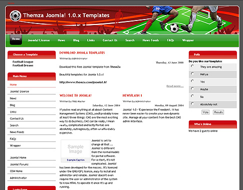 Football Dreams для Joomla
