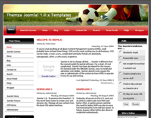 Football League для Joomla