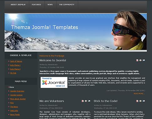 Ski Club для Joomla