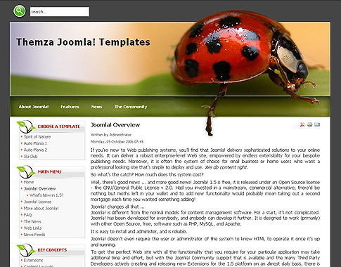 Spirit of Nature для Joomla